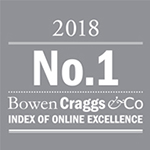 Voted number 1 by Bowen Craggs & Co Index of Online Excellence
